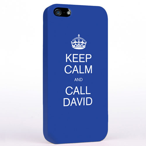 Personalised Blue Keep Calm iPhone Case