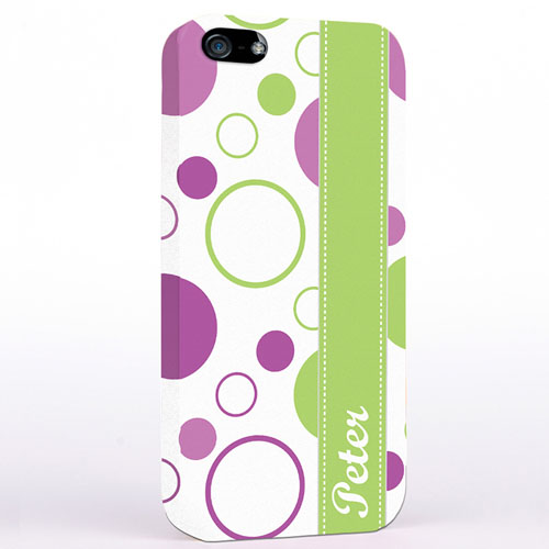 Personalised Lavender Lime Polka Dot iPhone Case
