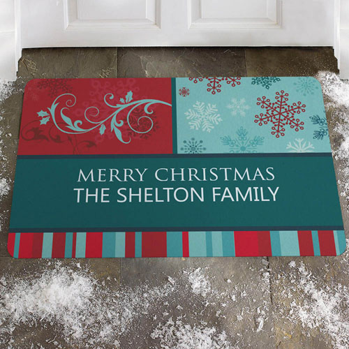 Create Your Own Colourful Greeting, Merry Christmas Door Mat