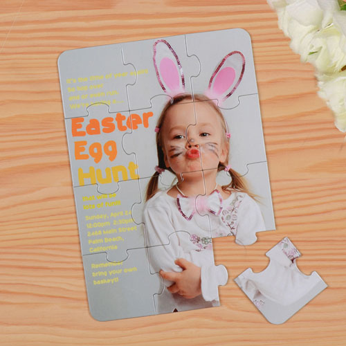 Personalised Easter Puzzle Invite