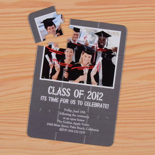 Personalised Graduation Class Puzzle Invite