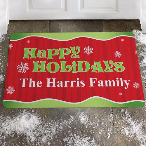 Create Your Own Happy Holidays Door Mat
