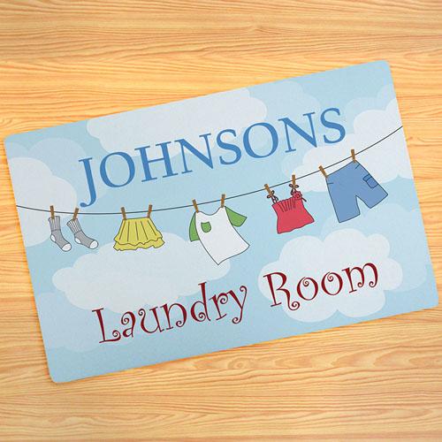 Laundry Room Personalised Doormat