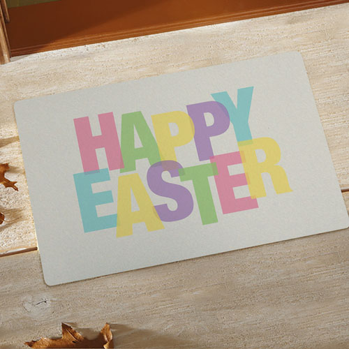 Happy Easter Personalised Doormat