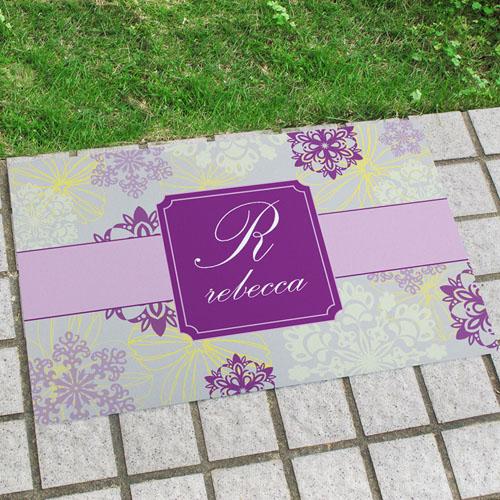 Spring Floral Personalised Doormat