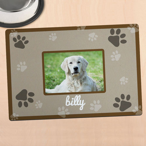 Brown Personalised Photo Meal Mat