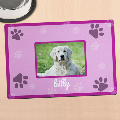Pink Personalised Photo Meal Mat