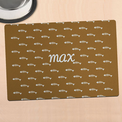 Brown Kitty Personalised Meal Mat
