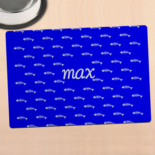 Blue Kitty Personalised Meal Mat