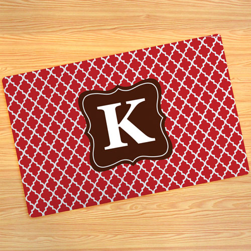 Red Clover Personalised Doormat 17