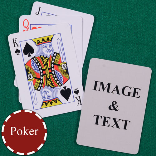 Personalised Poker Standard Index Playing Cards