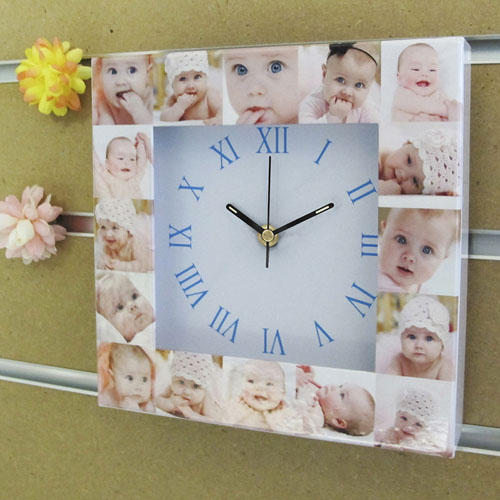 16 Collage Roman Face Personalised Clock