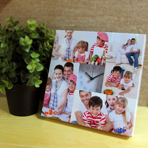 4 Collage Roman Face Personalised Clock
