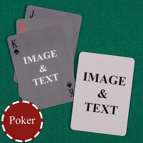 Personalised Poker Simple Custom 2 Side Playing Cards