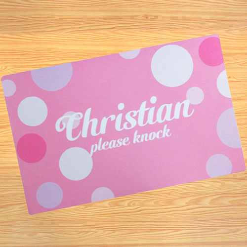 Create Your Own Personalised Girl My Name Door Mat