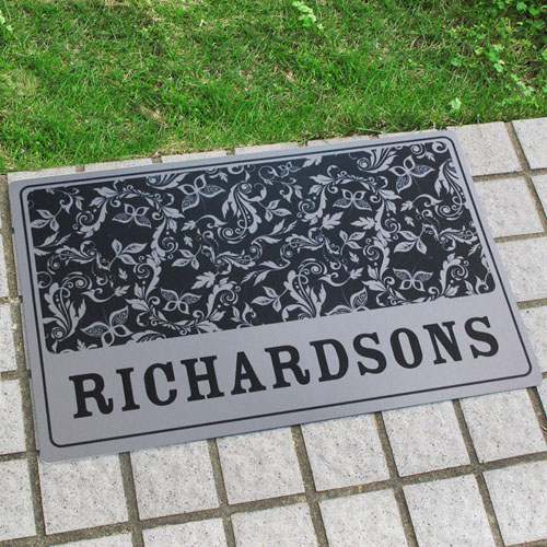 Create Your Own Personalised Name And Initial Door Mat