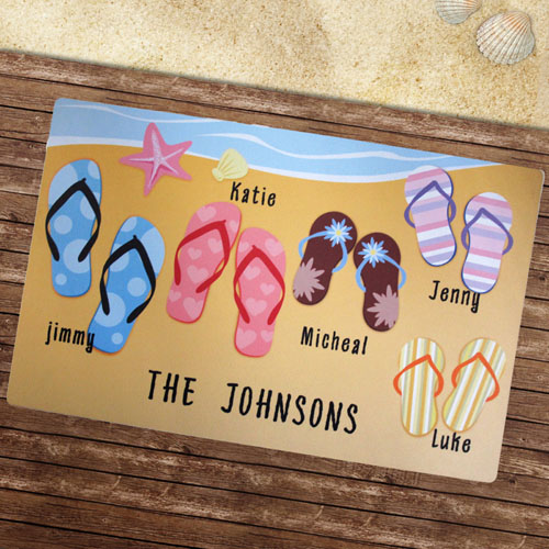 Create Your Own Personalised Flip Flops Beach House Door Mat