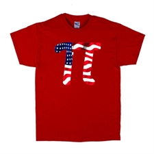 American Pi T-Shirt Red, Maths Humour