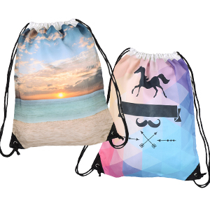 Full Colour Print Drawstring Backpack